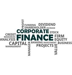 word cloud - corporate finance vector image
