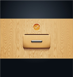 archive wooden shelves Open card Catalog vector image