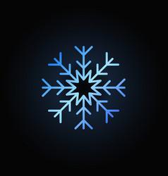 blue snowflake icon vector image vector image