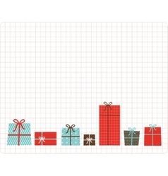 christmas and new year present box set card vector image