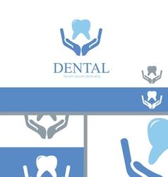 Dental Care Dentist Teeth Wellness Logo Concept vector image vector image