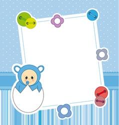 Frame baby boy vector image vector image