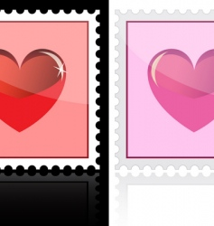 heart stamp vector image