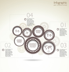 Infographic gear template design vector image