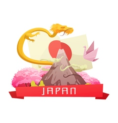 Japan culture retro cartoon composition poster vector