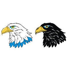 mascot head of an eagle vector image