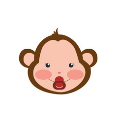 monkey cartoon drawing animal vector image vector image