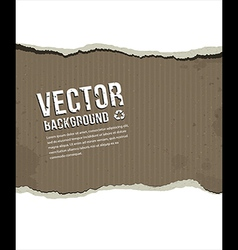 Paper ripped vintage background vector image vector image