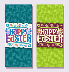 vertical banners for easter holiday vector image vector image