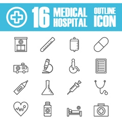 262hospital outline icon vector image