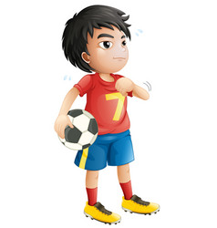 a football player character vector image