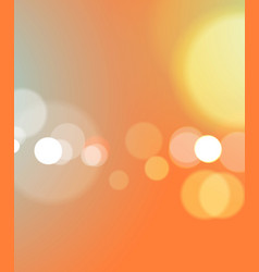 Abstract bokeh light orange background vector