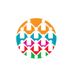 abstract connected unity people community logo vector image