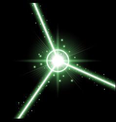abstract laser beams green color vector image