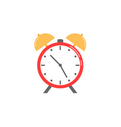 Alarm clock flat icon school and office element vector