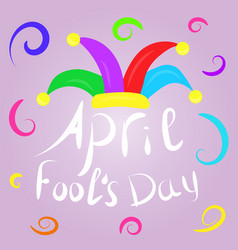 april fools day greeting colorful typography with vector image