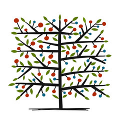 art tree for your design vector image