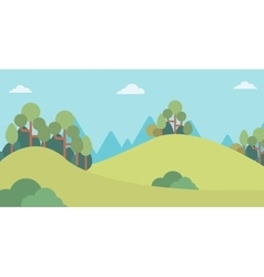 Background of mountain landscape vector