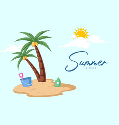 banner design of summer is here vector image