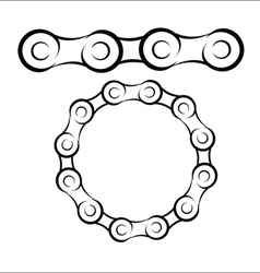 Bicycle chain sketch vector