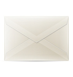 Blank envelope isolated on white background vector image
