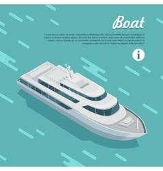 Boat Sailing in Sea Cruise Liner Passenger Ship vector image