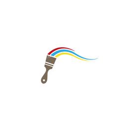Brush paint colors logo design vector
