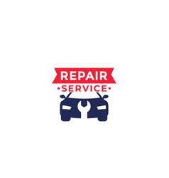 car repair service logo vector image