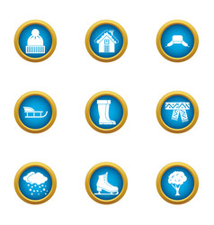 Chilly icons set flat style vector