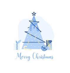 christmas decoration labels icons elements card vector image