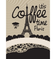 coffee paris vector image