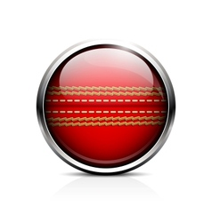 Cricket ball icon vector