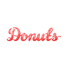 donut colored lettering vector image