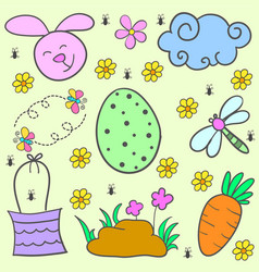 Doodle of easter egg design cartoon vector