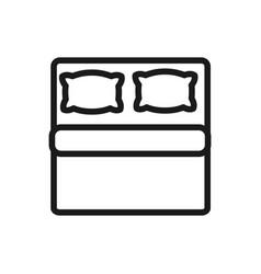 double mattress pillows comfortable soft textile vector image