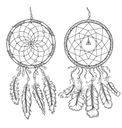 Dream catchers Native american traditional symbol vector