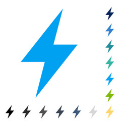 Electric strike icon vector