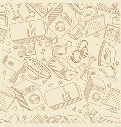 Electronics line art design vector