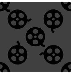 Film web icon flat design Seamless pattern vector image