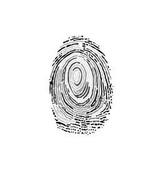 fingerprint grayscale silhouette vector image