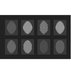 fingerprint set modern flat circular vector image