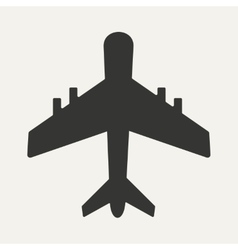 Flat in black and white mobile application plane vector