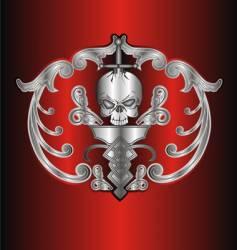 frame skull vector image