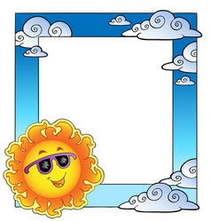 Frame with summertime theme 2 vector