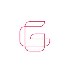 G letter logo geometric line outline icon mark vector