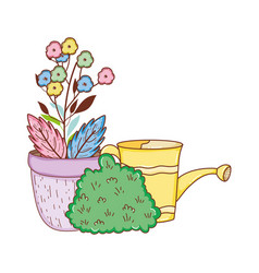 Gardener shower sprinkler with flowers vector