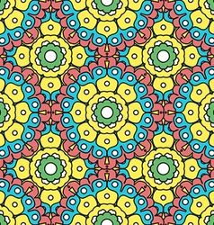 geometric designs floral patterns vector image vector image