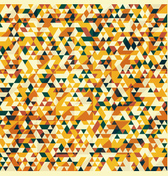 gold color triangle pattern vector image