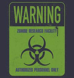 Grungy biohazard symbol vector