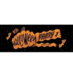 Halloween banner party vector image